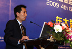 Mr. Li Hao, vice general manager of COSCO logistics makes speech on international cooperation of logistics companies