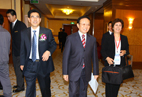 Mr.Kang Shuchun,CEO of Shippingchina ,is stepping into the conference hall with the secretary of Mr.Wei Jianguo