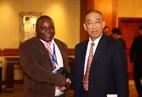 Professor Liu Bin met overseas guest