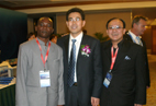 Delegates take photoes together