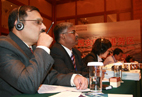 Delegates from neighbouring countries pay great attention