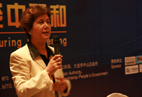 Mrs. Faghfouri, IMMTA President, hosts the forum