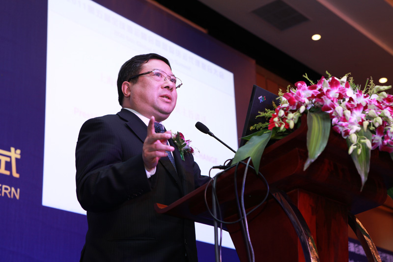 Mr. Zhang Ye, President of Shanghai Shipping Exchange Addressed Keynote Speech