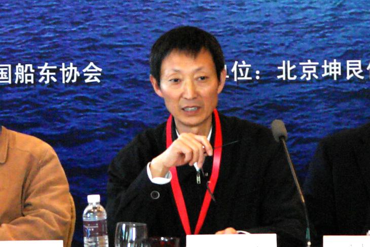 中国船东协会副会长张守国主持会议