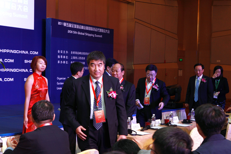 Mr. Zhi Guanglu, Deputy Director General from Bureau of Water Transport, Ministry of Transport, P.R. China Stepped into the Conference Hall