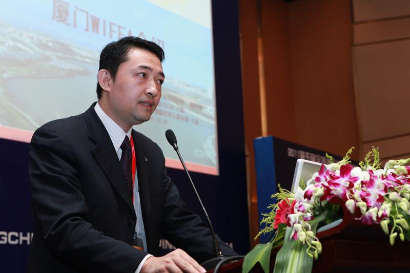 厦门口岸主席联球海空物流(中国)陈明湖总经理