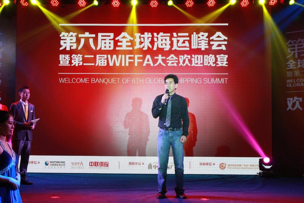 中国国际海运网总经理康树春致欢迎词