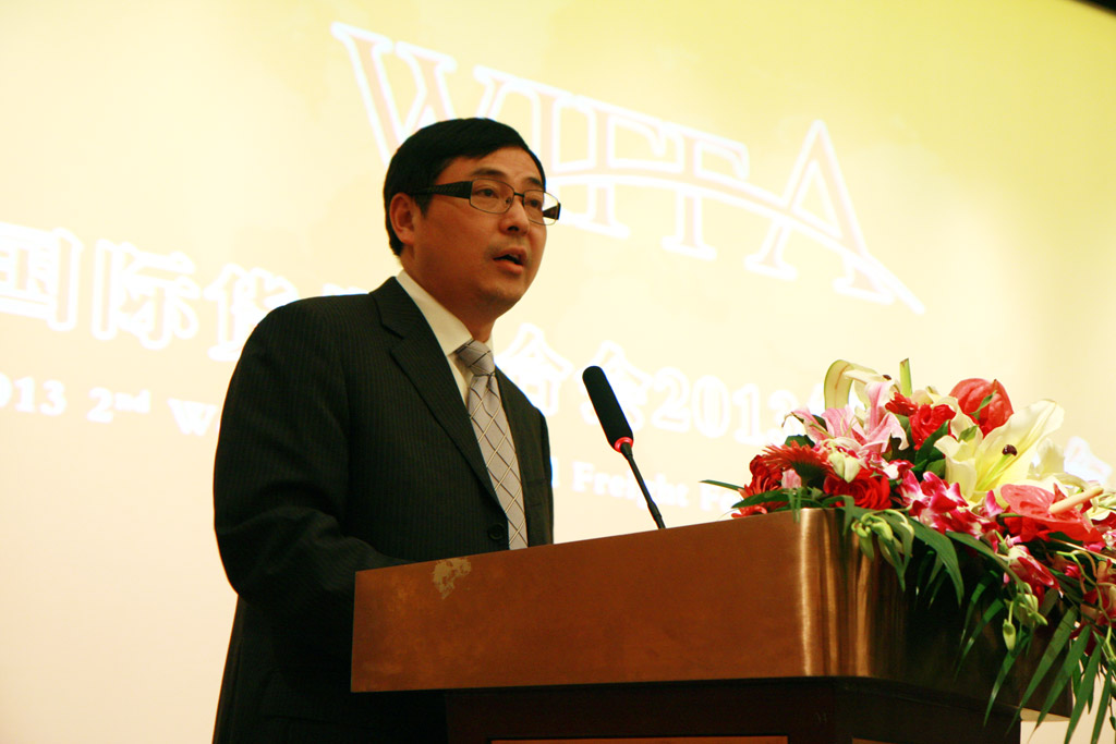 Mr.He Zhuan, Rotating Chairman of WIFFA, President of Ningbo Huanji Int'l Logistics Co., Ltd.