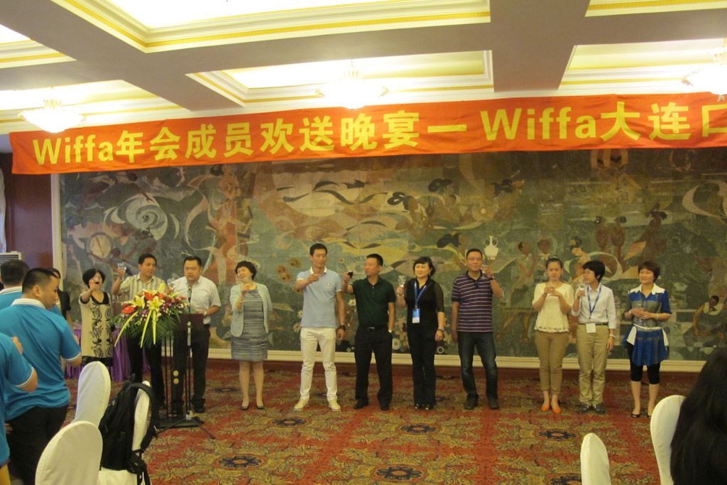 Representives From WIFFA-Dalian Port Toasting Together