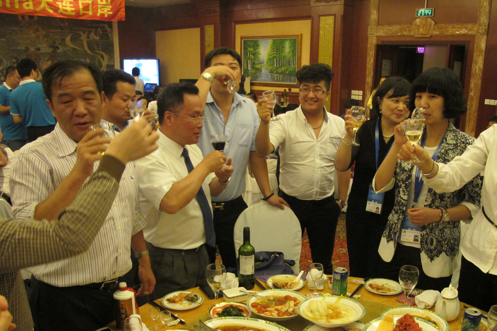 Guests from WIFFA- Xiamen Port Toasting Together