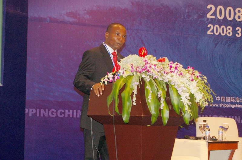 非洲货运联盟主席Ukata Christian先生发表主题演讲
