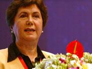 国际多式联运协会主席方贺利女士做主题演讲