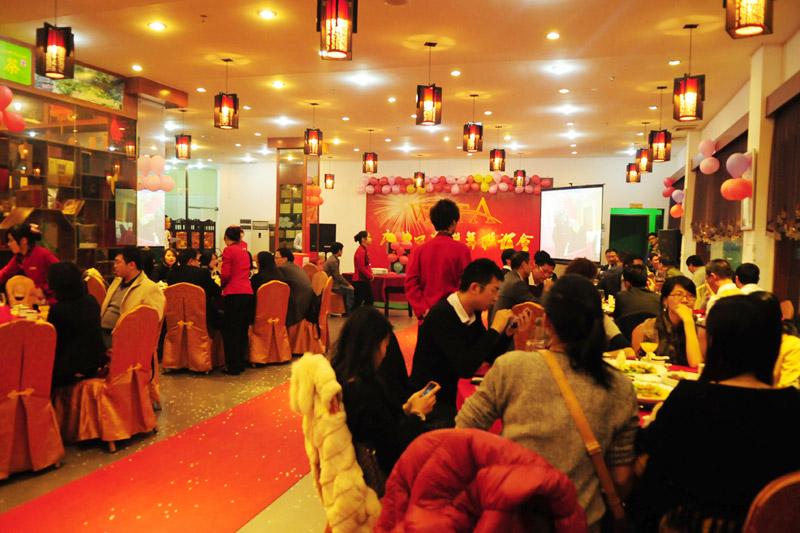 广州口岸会场新年气氛浓厚