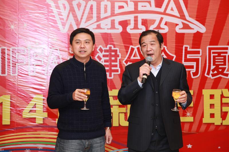 陈国良会长同张荣凯会长发表对本次口岸互访内容讲话